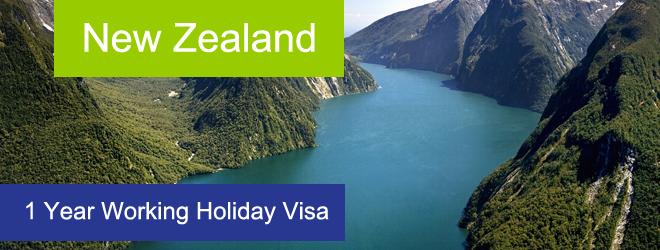 New Zealand 1 Year Working Holiday Visa from Ireland, New