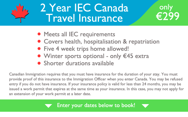 2 yr Canada IEC Travel Insurance
